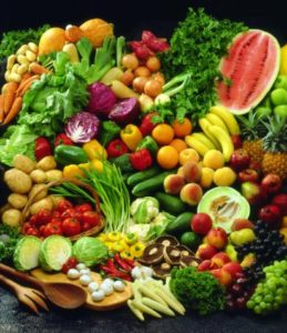 Selection of raw foods