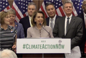 Democrats presenting Climate Action Now proposed bill of law